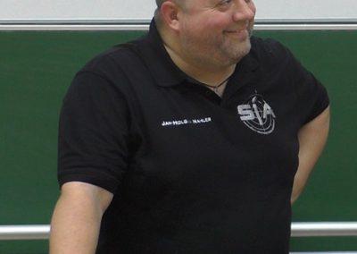 Praxisseminar Krisenmanagement 2019 | Uni-Koblenz: Jan-Holger Nahler bei der Moderation