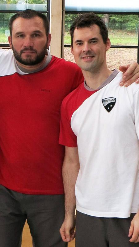 Sifu André mit Sifu Stefan Crnko auf der Hellweek 2015 in Koblenz