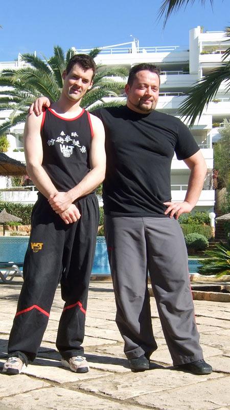 Sifu André 2007 mit Sifu Jan-Holger Nahler auf Mallorca