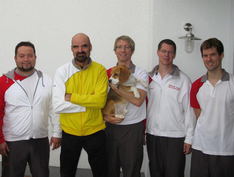 Sifu André 2009 beim Privatunterricht mit GM K. Kernspecht (mit dabei: Sifu Constantin Mock und Sifu Jan-Holger Nahler)