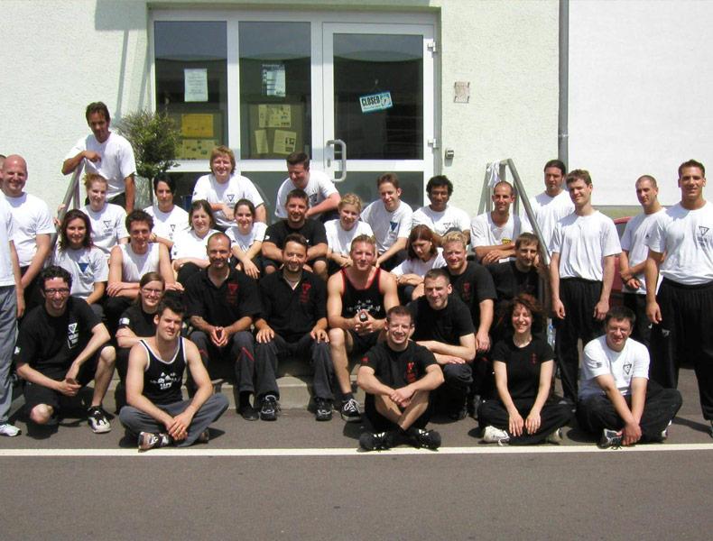 Sifu André als 12. SG beim SummerCamp 2004 in Leichlingen mit Sifu Jan-Holger Nahler, Sifu Thommy Böhlig und Sifu Stefan Tebbe